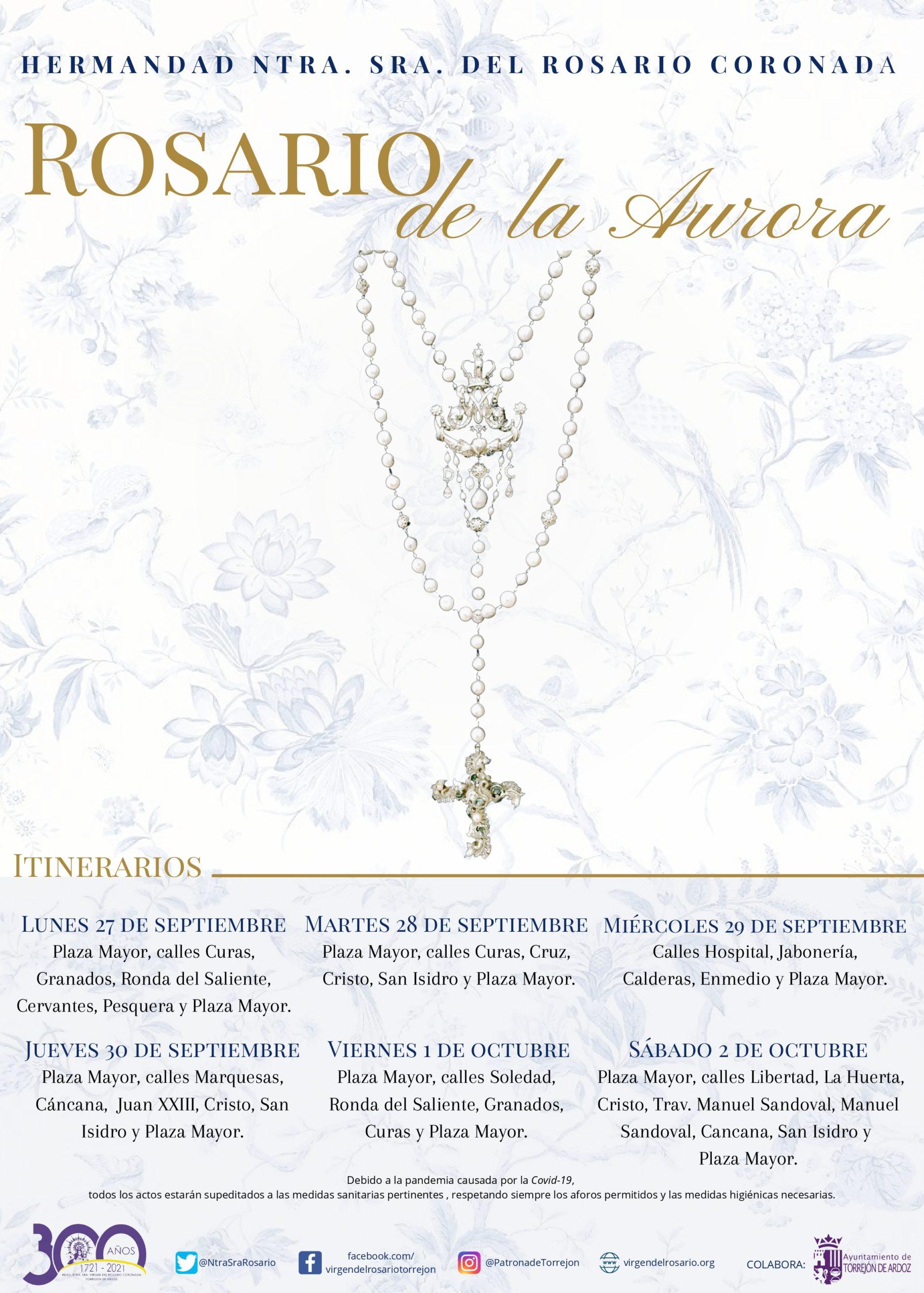 Cartel Rosario de la Aurora